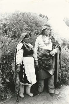 1930 Photograph of a woman and a man of Zuni Pueblo from the Native Americans Ephemera Grab Bag. (Native American Ephemera Grab Bags available at http://www.uncannyartist.com/products/native-americans-ephemera.
