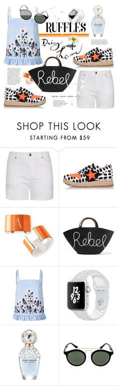"""Ready for summer"" by edita1 ❤ liked on Polyvore featuring City Chic, STELLA McCARTNEY, Mark & Graham, Eugenia Kim, Orla Kiely, Marc Jacobs, Ray-Ban, ruffledtops and plus size clothing"