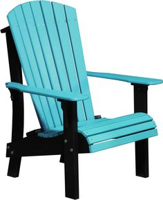 LuxCraft Recycled Plastic Royal Adirondack Chair With Elevated Seat Height