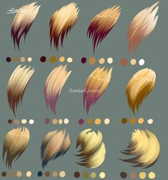 40 Ideas Painting Brush Strokes Photoshop For 2019 Digital Painting Tutorials, Digital Art Tutorial, Art Tutorials, Hair Reference, Drawing Reference, Photoshop, Coloring Tutorial, How To Draw Hair, Colorful Drawings