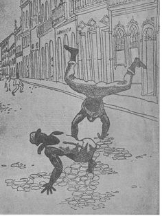 With the end of slavery, capoeira became popular. Discriminated by society, he began to use capoeira to assault or to fight the police. In the late nineteenth century, capoeiristas dominated in Rio de Janeiro, Salvador, Santos and Recife. They formed malts of 20 to 100 men, who at the front of the carnival or at the civic parties provoked arruaças, rigging and injuring many people.