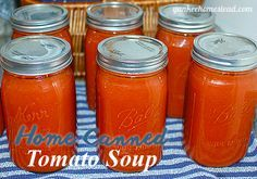 Tomato Recipes Try your hand at this homemade canned tomato soup. You won't regret it! - What could be better (or easier) than popping open a can of Home Canned Tomato Soup, heating it in a pot and serving it to your family for dinner? Canning Tomato Soup, Fresh Tomato Soup, Tomato Basil Soup, Tomato Soup Recipes, Canning Tomatoes, Tomato Tomato, Slow Cooker Tomato Soup, Freezing Tomatoes, Chilli Recipes