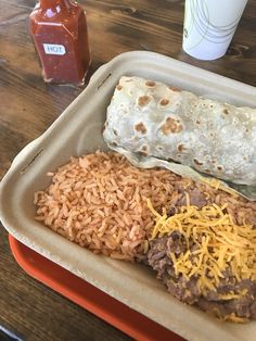 Burrito plate. Awesome!