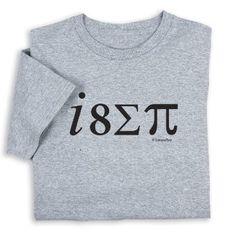 i 8 (sum) pi T-shirt: Amazon.com: Clothing