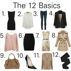 """""""12 Essentials You Should Have in Your Closet"""" by woahitsbethany on Polyvore"""
