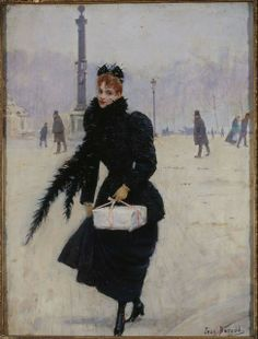 Jean Béraud Parisienne, place de la Concorde, vers 1890. Oil on wood, 35 x 26,5 cm © Paris, Musée Carnavalet / Roger-Viollet