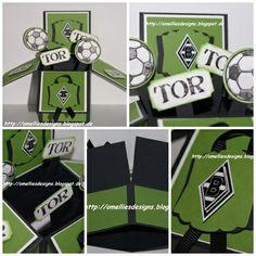 Stampin UP , Pop Up Box Card , Apfelgrün , Fussball, Borussia Mönchengladbach, Great Sport