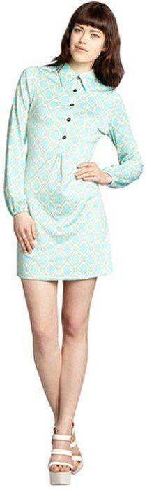 Julie Brown JB by mint and cream printed jersey knit 'Elliot' shirt dress on shopstyle.com