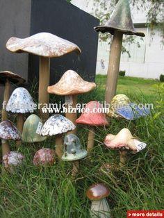garden ceramic mushroom stake / China Other Garden Ornaments & Water Features for sale from Fujian Dehua Fuda Ceramics Co., Ltd. - Bizrice.com