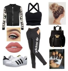 """Untitled #24"" by chelsea-dyer on Polyvore featuring adidas Originals, WearAll, Ivanka Trump and Lime Crime"