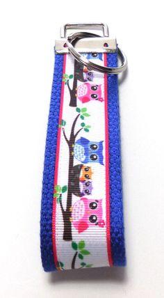 #Key #Fob #Owl Family #Wristlet Key #Ring Key by GabbysQuiltsNSupply, $5.00