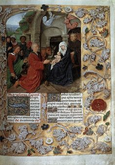 Breviary of Isabella of Castile 1490s Manuscript (Additional Ms. 18851), 230 x 160 mm British Library, London / The Adoration of the Magi by Gerard David, 1490s