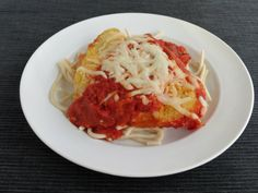 Oven baked chicken parmesan is one of our favorite meals.