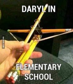 Daryl Dixon in school