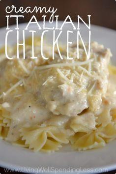 Creamy Italian Crock-Pot Chicken Recipe