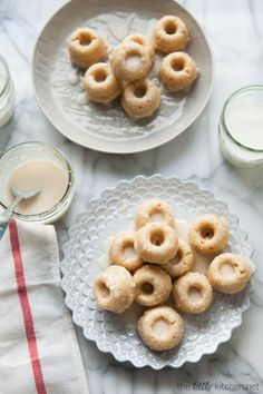 Mini Buttermilk Pumpkin Pie Spice Donuts with Brown Butter Vanilla Glaze - The Little Kitchen