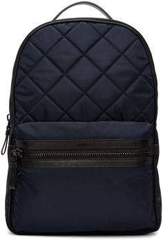 Moncler: Navy Quilted Backpack | SSENSE