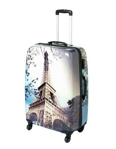 Eiffel Tower Hardshell Large Case | Suitcases | ASDA direct