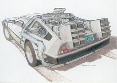 The day has come and we finally get to the exact date Marty McFly and Doc Brown visited in Back to the Future II, which represented 30 years into the Bttf Delorean, Doc Brown, The Time Machine, Industrial Design Sketch, Ready Player One, Great Backgrounds, Principles Of Design, Car Drawings, Back To The Future