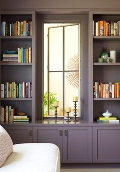 love the window and shelving.