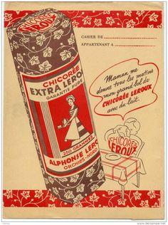 Chicorée LEROUX Vintage Cafe, Vintage Antiques, Illustration Photo, Old Advertisements, Old Paper, Vintage Images, Childhood Memories, Retro, Jars