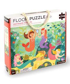 Loving this Mermaid Friends 24-Piece Floor Puzzle on #zulily! #zulilyfinds