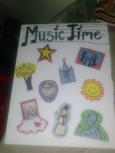 LDS Nursery Primary Music Time Attach Pictures With Velcro To Foamcore Board Write Song