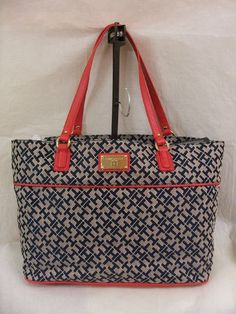 Tommy Hilfiger Tote Style 6920522 471 Color Blue/Red     Retail Price $ 89.00     Brand New with Tags    Check my ebay store for more Tommy hilfiger bags: http://stores.shop.ebay.com/TopDesignersJeans4U