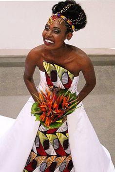 Ateliê especializado em moda africana lança vestido de noiva com referência…