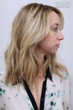 LOVELY MID LENGTH Cut/Style: Anh Co Tran • IG: @Anh Co Tran • Appointment inquiries please call Ramirez|Tran Salon in Beverly Hills at 310.724.8167. #dreamhair #fantastichair #amazinghair #anhcotran #ramireztransalon #waves #besthair2015 #holidayhair #livedinhair #coolhaircuts #coolesthair #trendinghair #model #inspo #midlength #movement #favoritehair #haircuts2015 #besthair #ramireztran #womenshaircut #hairgoals #hairtransformation #Blonde