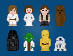 Star Wars Characters  Cross Stitch PDF Pattern by pixelpowerdesign, $7.00