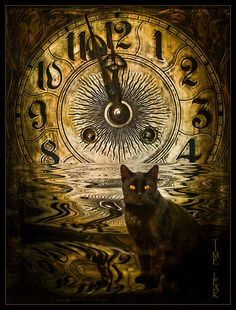 """Time Leak -- by Sabine Harti. Surreal Time Art. Re-pinned by Dew Pellucid, author of """"The Sound  The Echoes"""" (http://thesoundandtheechoes.com)."""