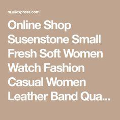 Online Shop Susenstone Small Fresh Soft Women Watch Fashion Casual Women Leather Band Quartz-Watch Ladies Elegant Watch Clock reloj mujer 25 | Aliexpress Mobile