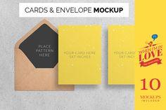 OhMyCard Mockup - Cards & Envelope