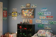 hobby lobby room decorations for boys all about realistic cars | The result is Ian's new 'Route 66 Room,' as we're calling it.