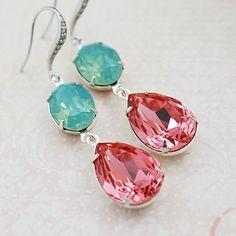 Boda joyería de Dama de honor pendientes por earringsnation en Etsy, $36.80