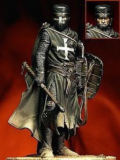 Crusader knight art print featuring the painting crusader warrior - medieval warfare by andrea mazzocchetti Medieval Knight, Medieval Armor, Medieval Fantasy, Armadura Medieval, Crusader Knight, Knight Armor, Knights Hospitaller, Knights Templar, Panzer Tattoo
