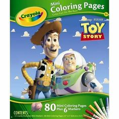 crayola mini coloring pages disney pixar toy story by binney smith 790