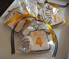 Volleyball Cookie - Volleyballs and jerseys. So cute! - Page