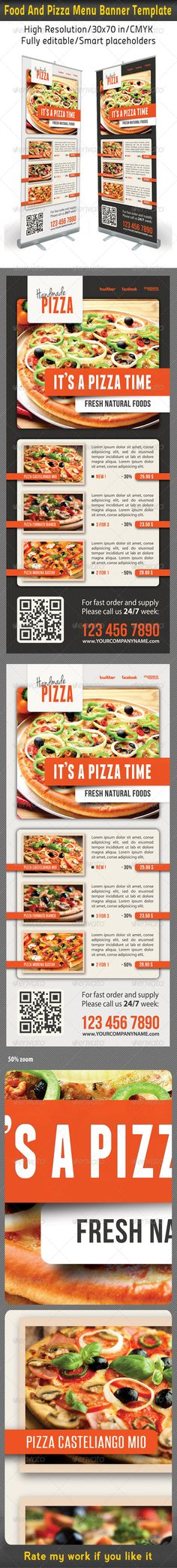 Food \ Restaurant Banner template, Banners and Template - sample pizza menu template