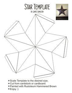 Create Decorative Stars for pennies. DIY Crafts. Home Decor,