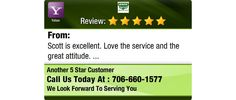 Scott is excellent. Love the service and the great attitude.