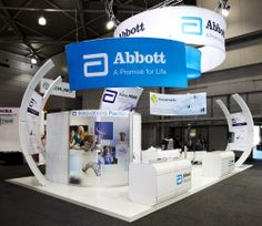 Abbott exhibition stand designed and constructed by Expocentric