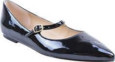 Adrienne Vittadini Footwear Womens Frazier Mary Jane Flat Black 1 6 M US * Learn more by visiting the image link. Note:It is Affiliate Link to Amazon.