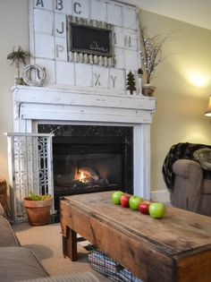Down to Earth Style: Winter Mantel with Metal