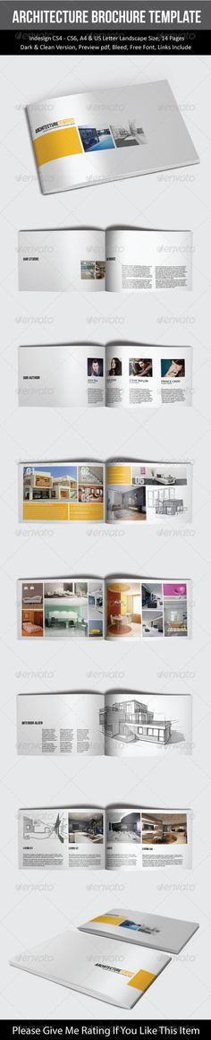 Modern Architecture Brochure 03 Template, Modern architecture - architecture brochure template
