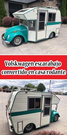 Volskwagen escarabajo convertido en casa rodante #Fusca #Casarodante #Volkswagen Volkswagen, Recreational Vehicles, Vintage, Beetle Car, Camper Trailers, Beetle, Mistress, Motors, Autos