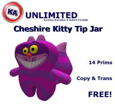 KA Cheshire Kitty Tip Jar-Free Edition