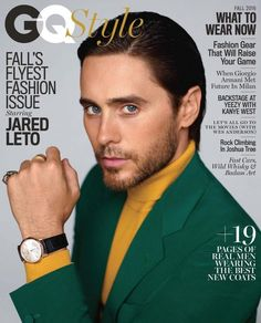 Jared Leto definitely pulls off this bold and bright suit!