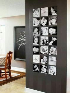 Black and White family photos make a great feature wall.